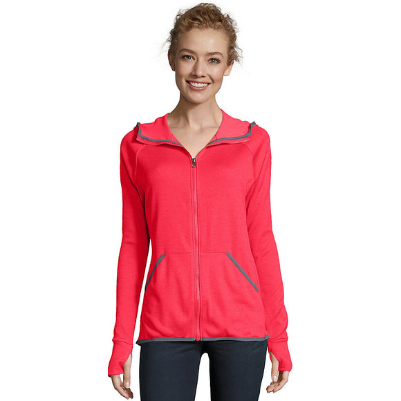Hanes Sport™ Women's Performance Fleece Zip Up Hoodie,Style O4873