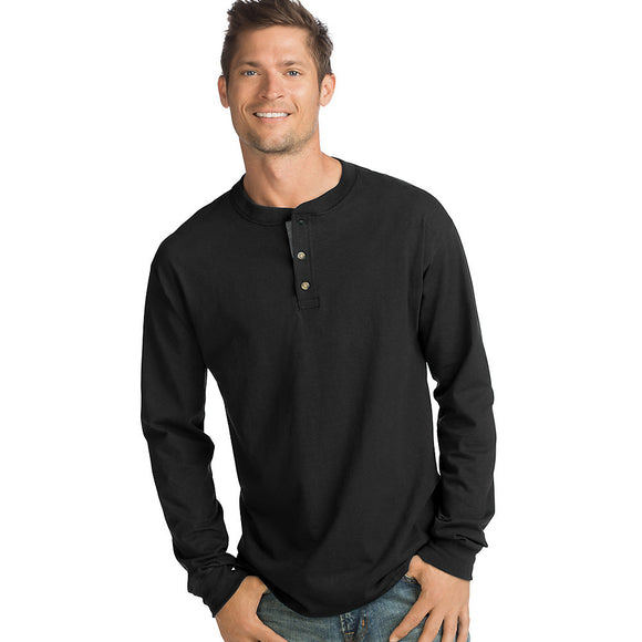 Hanes Men's Beefy-T Long-Sleeve Henley,Style O5719