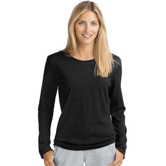 Hanes Women's Long-Sleeve Crewneck T-Shirt, Style O9133