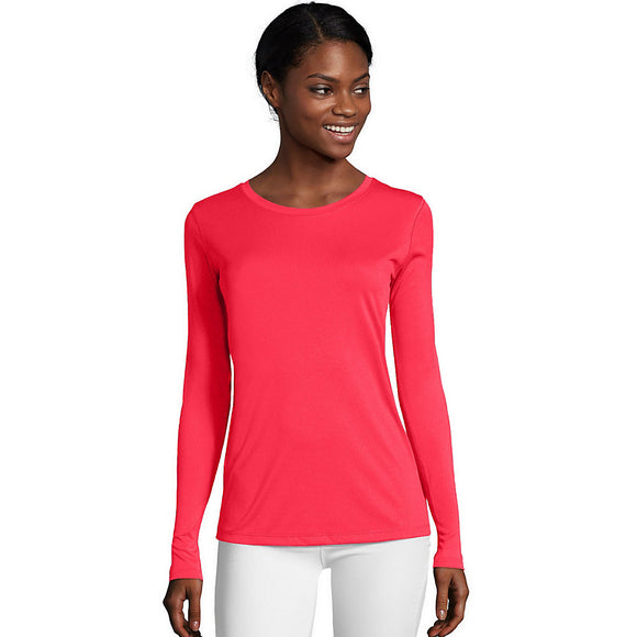 Hanes Sport™ Cool DRI® Women's Performance Long-Sleeve T-Shirt,Style O9308