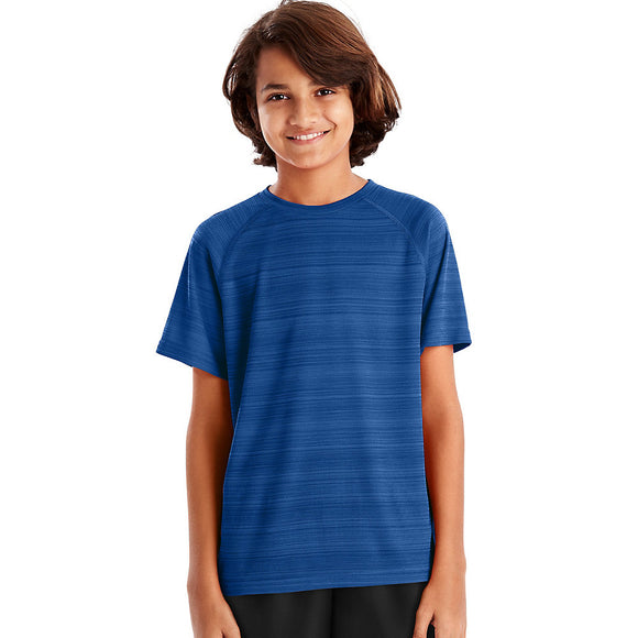 Hanes Sport™ Boys' Heathered Tech Tee,Style OD179
