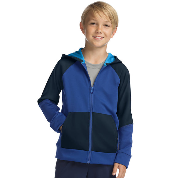 Hanes Sport™ Boy's Tech Fleece Full Zip Hoodie,Style OD257
