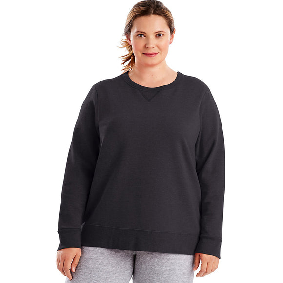 Just My Size ComfortSoft® EcoSmart® V-Notch Crewneck Women's Sweatshirt,Style OJ098