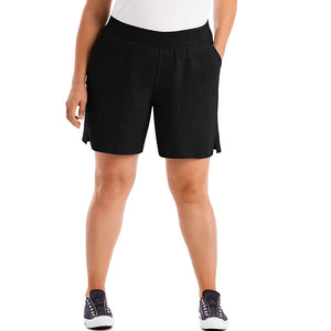 Just My Size Cotton Jersey Pull-On Women's Shorts, Style OJ206