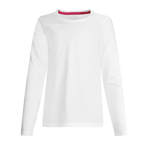 Hanes Girls' Long-Sleeve Crewneck T-Shirt,Style OK123