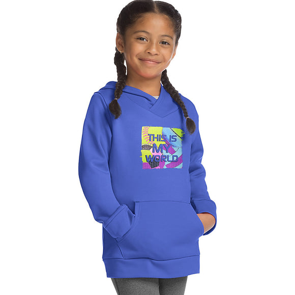 Hanes Sport™ Girls' Graphic Tech Fleece Pullover Hoodie,Style OK381