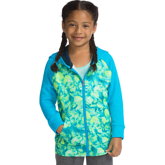 Hanes Sport™ Girls' Tech Fleece Full Zip Hoodie,Style OK382