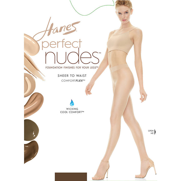 Hanes Perfect Nudes™ Sheer to Waist Run Resistant Light Tummy Control Hosiery,Style PN0002