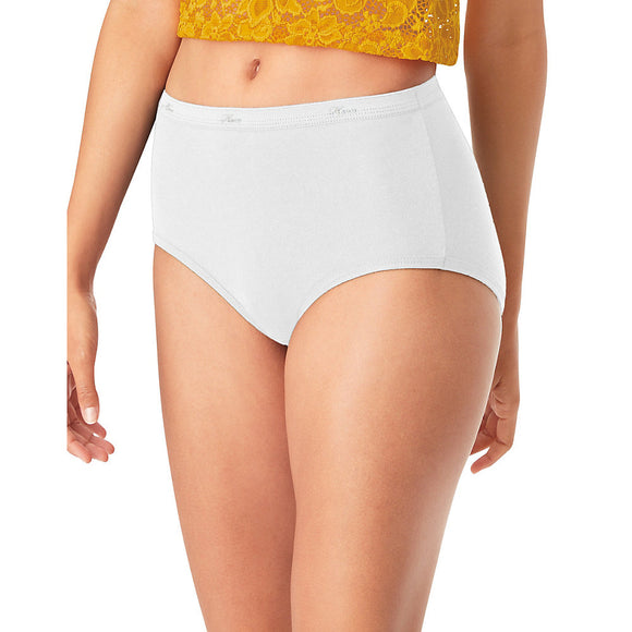 Hanes® Cool Comfort™ WoMen's Cotton Brief Panties 6-Pack,Style PP40WH
