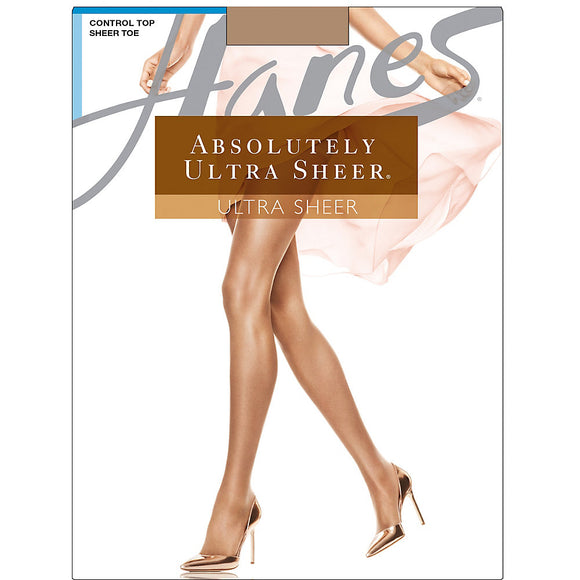 Hanes Absolutely Ultra Sheer Control Top Sheer Toe Pantyhose,Style 707