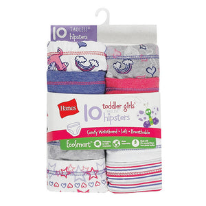 Hanes Toddler Girls' EcoSmart™ Hipsters 10-Pack,Style TEHP10