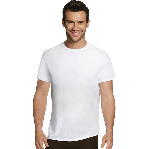 Hanes Ultimate™ Men's Comfort Fit White Crewneck Undershirt 4-Pack,Style UFT1W4