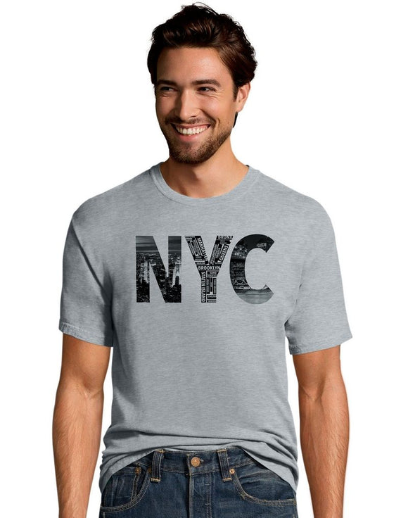 Hanes Men's Nyc Collage Graphic T-Shirt, Style GT49Y07074