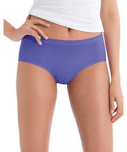 "Hanes Women's 6 Pack ""No Ride Up"" Low Rise Cotton Brief, Style PP38AS"