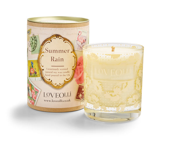 gifteasyonline - LoveOlli Scented Candle Summer Rain - Ulster Weavers - Candles