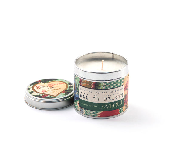 LoveOlli Scented Tin Candle All is Bright