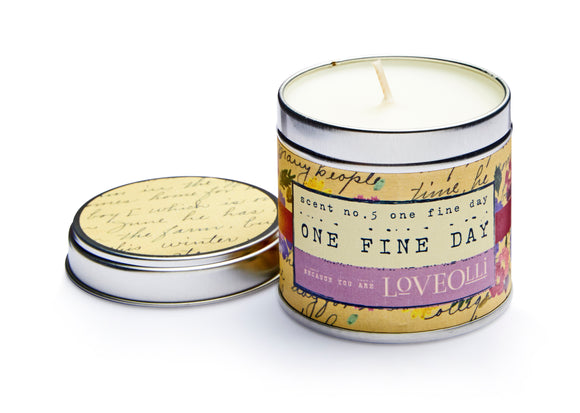 gifteasyonline - LoveOlli Scented Tin Candle One Fine Day - Ulster Weavers - Candle