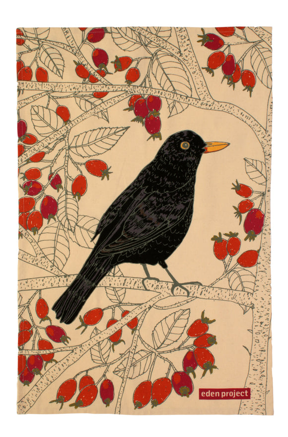 gifteasyonline - Cotton Tea Towel Blackbird by Ulster Weavers - Ulster Weavers - tea Towel