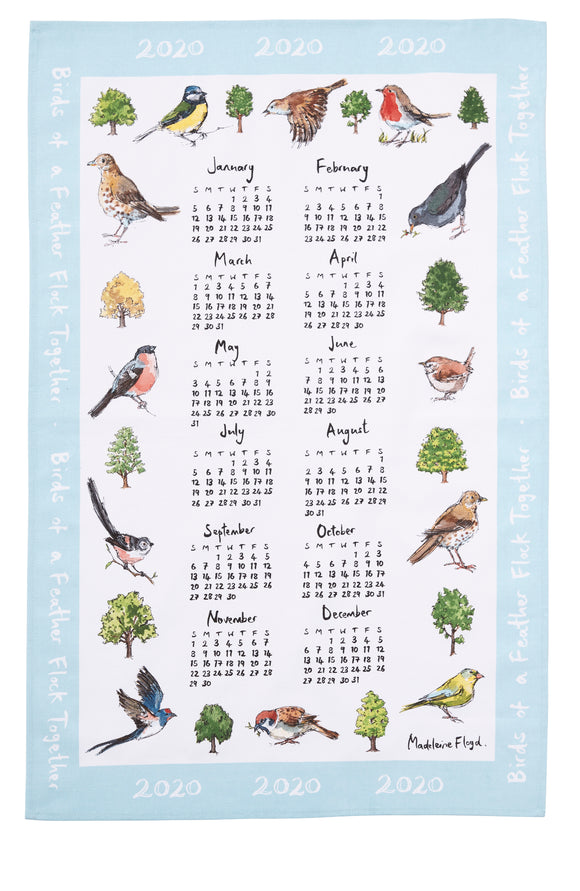 Ulster Weavers Bird Song Calender Tea Towel 2020