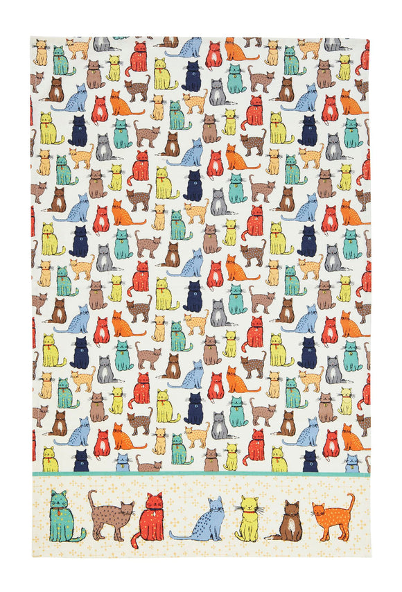 gifteasyonline - Ulster Weavers Cotton Tea Towel Cat Walk - Ulster Weavers - Tea Towel