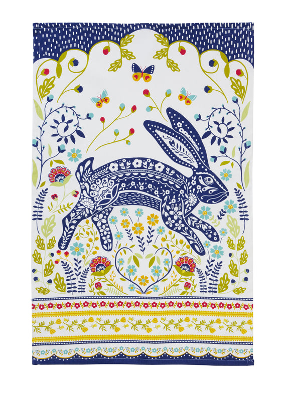 Cotton Tea Towel Hare by Ulster Weavers
