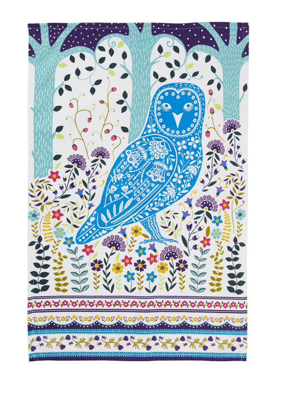 Cotton Tea Towel Woodland Owl by Ulster Weavers - Gifteasy Online