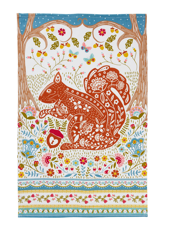 Cotton Tea Towel Squirrel by Ulster Weavers - Gifteasy Online