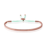 Joma Jewellery - Message Bangle - Good Vibes - Rose Gold with Pale Mint Kiko Thread - Gifteasy Online