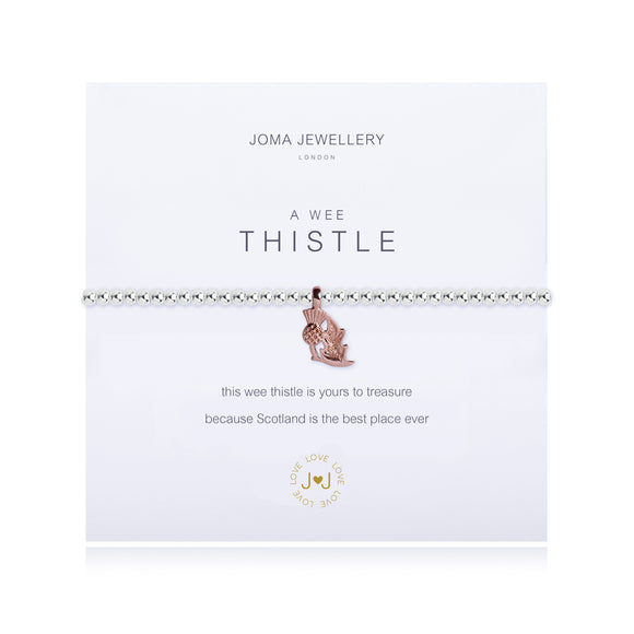 Joma Jewellery A Wee Thistle Bracelet