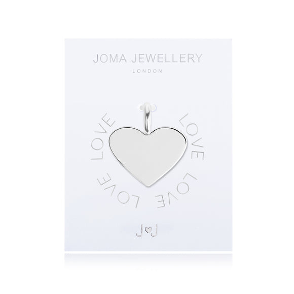 Joma Jewellery Charm Love Silver Heart
