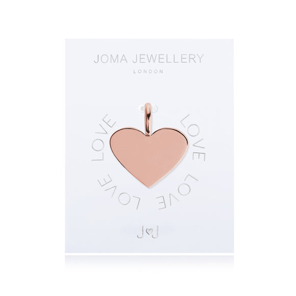 Joma Jewellery Charm Love Gold Heart