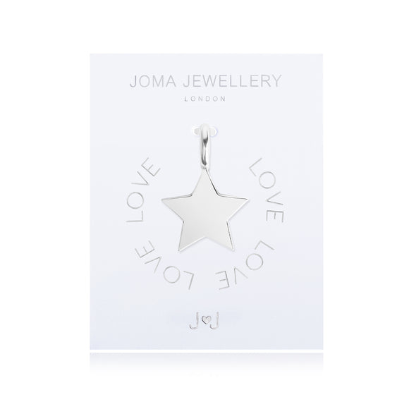 Joma Jewellery Charm Love Silver Star