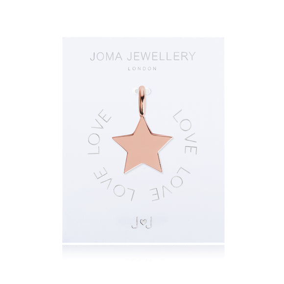 Joma Jewellery Charm Love Gold Star