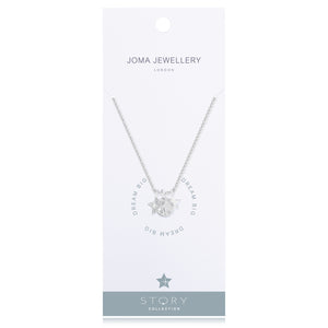 Silver Plated Story Collection Dream Big  Pendant Necklace - Gifteasy Online