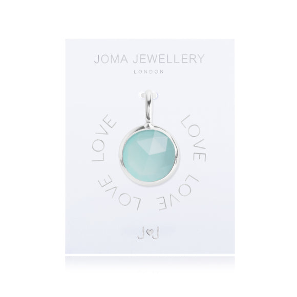 Joma Jewellery Charm Love Green Gem