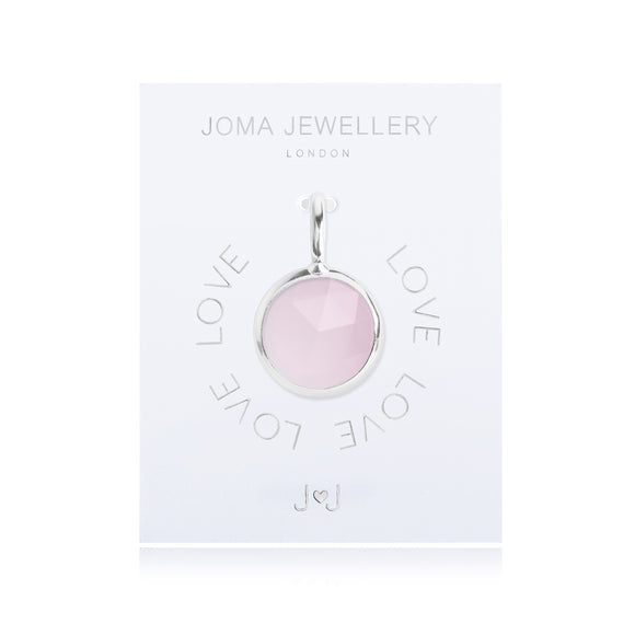 Joma Jewellery Charm Love Pink Gem