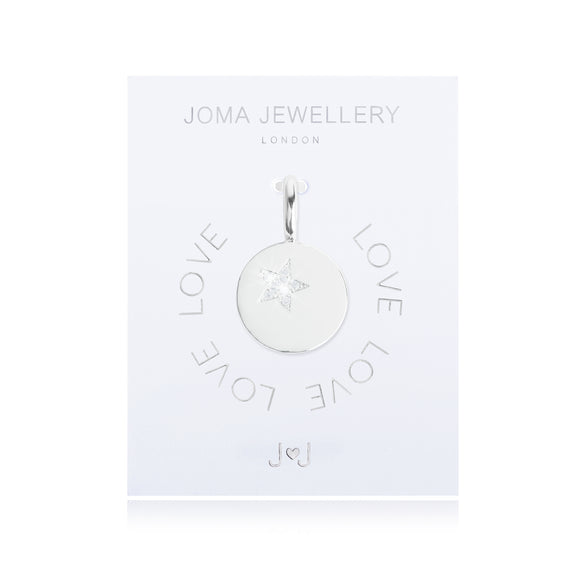 Joma Jewellery Charm Love Star Disc