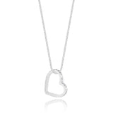 Joma Jewellery Silver Lila Pave Heart Necklace