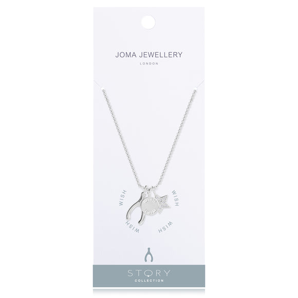 Silver Plated Story Collection Wish Pendant Necklace - Gifteasy Online