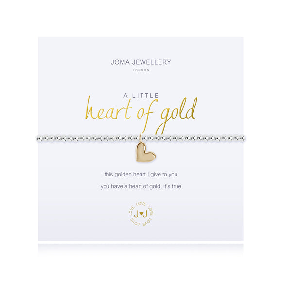 A Little Heart Of Gold Bracelet Silver Plated By Joma Jewellery - Gifteasy Online