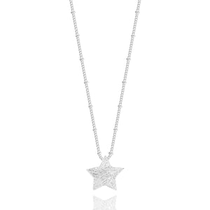 gifteasyonline - WISH UPON A STAR - long silver chain with large brushed star pendant - necklace - Joma Jewellery - necklace