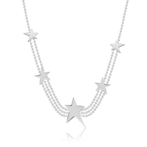 gifteasyonline - STARSTRUCK - silver chain with stars - necklace - Joma Jewellery - necklace