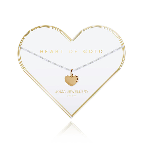 gifteasyonline - HEART OF GOLD - gold heart silver chain necklace - Joma Jewellery - necklace
