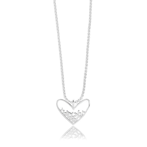 gifteasyonline - EVIE - silver heart scatter necklace - Joma Jewellery - necklace