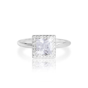 gifteasyonline - ESMEE - square cz ring - Joma Jewellery - ring