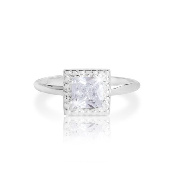 gifteasyonline - Joma Jewellery Esmee Square cz Adjustable Ring - Joma Jewellery - ring