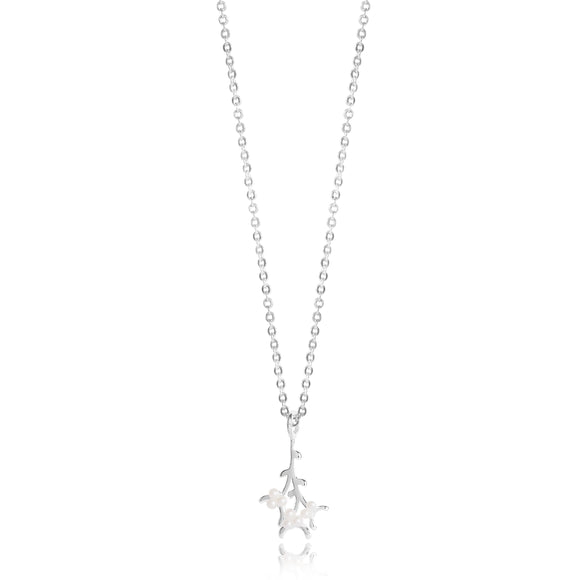 Joma Jewellery MEET ME UNDER THE MISTLETOE - silver and pearl charm on a silver necklace - Gifteasy Online