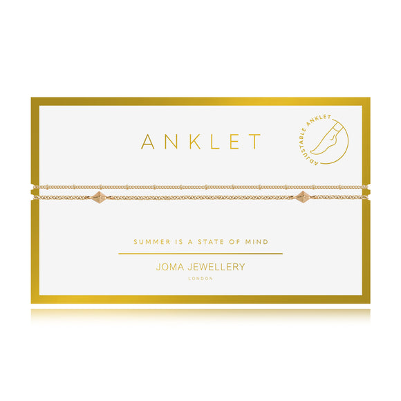 gifteasyonline - Joma Jewellery Anklet Yellow Gold Double Chain - Joma Jewellery - anklet