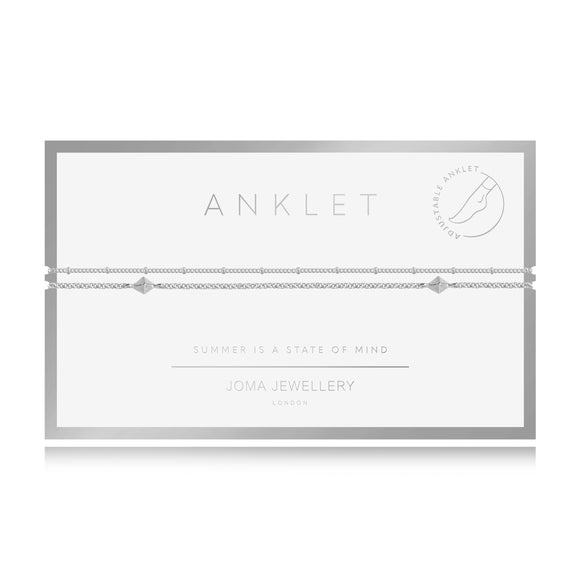 gifteasyonline - Joma Jewellery Anklet Silver Double Chain with gift bag and tag - Joma Jewellery - anklet