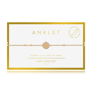 gifteasyonline - Joma Jewellery Anklet Yellow Gold Coin with Gift bag and Tag - Joma Jewellery - anklet
